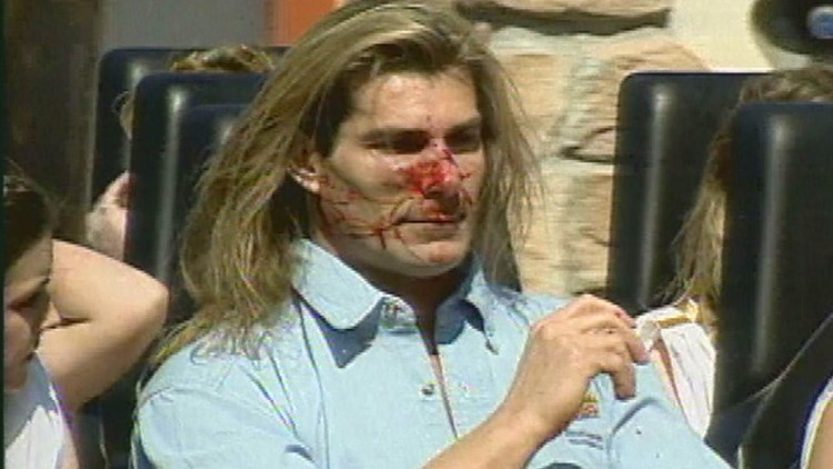 22 years ago, Fabio got goosed at Apollo's Chariot opening at Busch Gardens