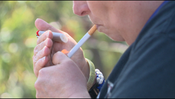 Veterans' Affairs bans smoking, inside and outside