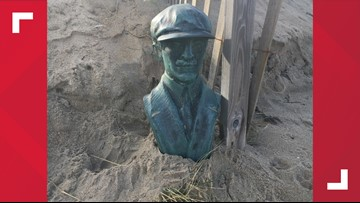 Orville Wright bust found on North Carolina beach; investigation continues