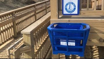 North Carolina town debuts beach clean-up baskets