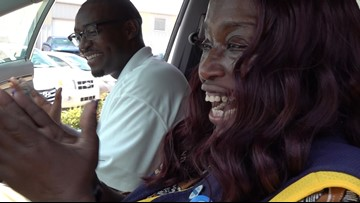 Slidell Walmart cashier who walked 6 miles to work given new car