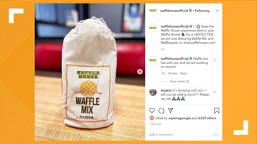 Waffle House waffle mix sells out in less than 24 hours, but more may be coming