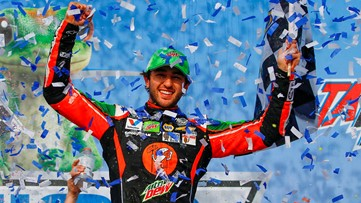 Awesome-ville in Dawsonville: Chase Elliott wins GEICO 500 at Talladega