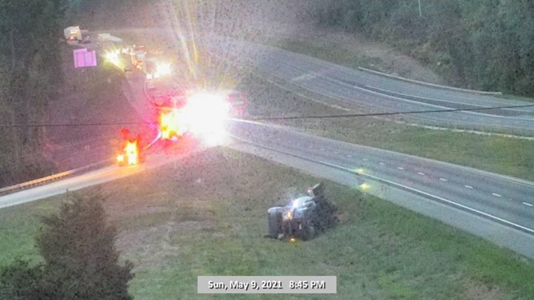 I-85 reopens after crash, hazardous materials concerns