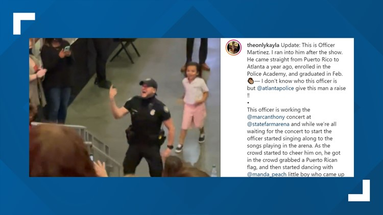 Atlanta officer shows off dance moves in viral video during Marc Anthony concert