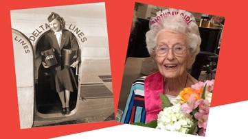 Original Delta flight attendant dies at 103