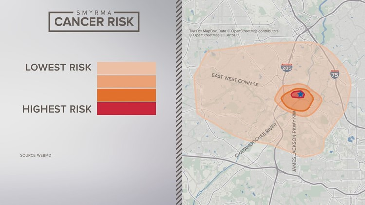 smyrna cancer risk map