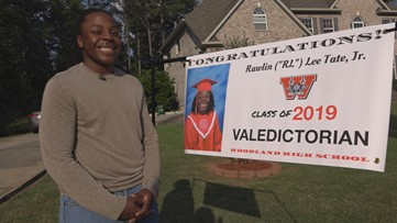 He's the 1st African-American Male valedictorian at his school and is graduating with a 4.7 GPA